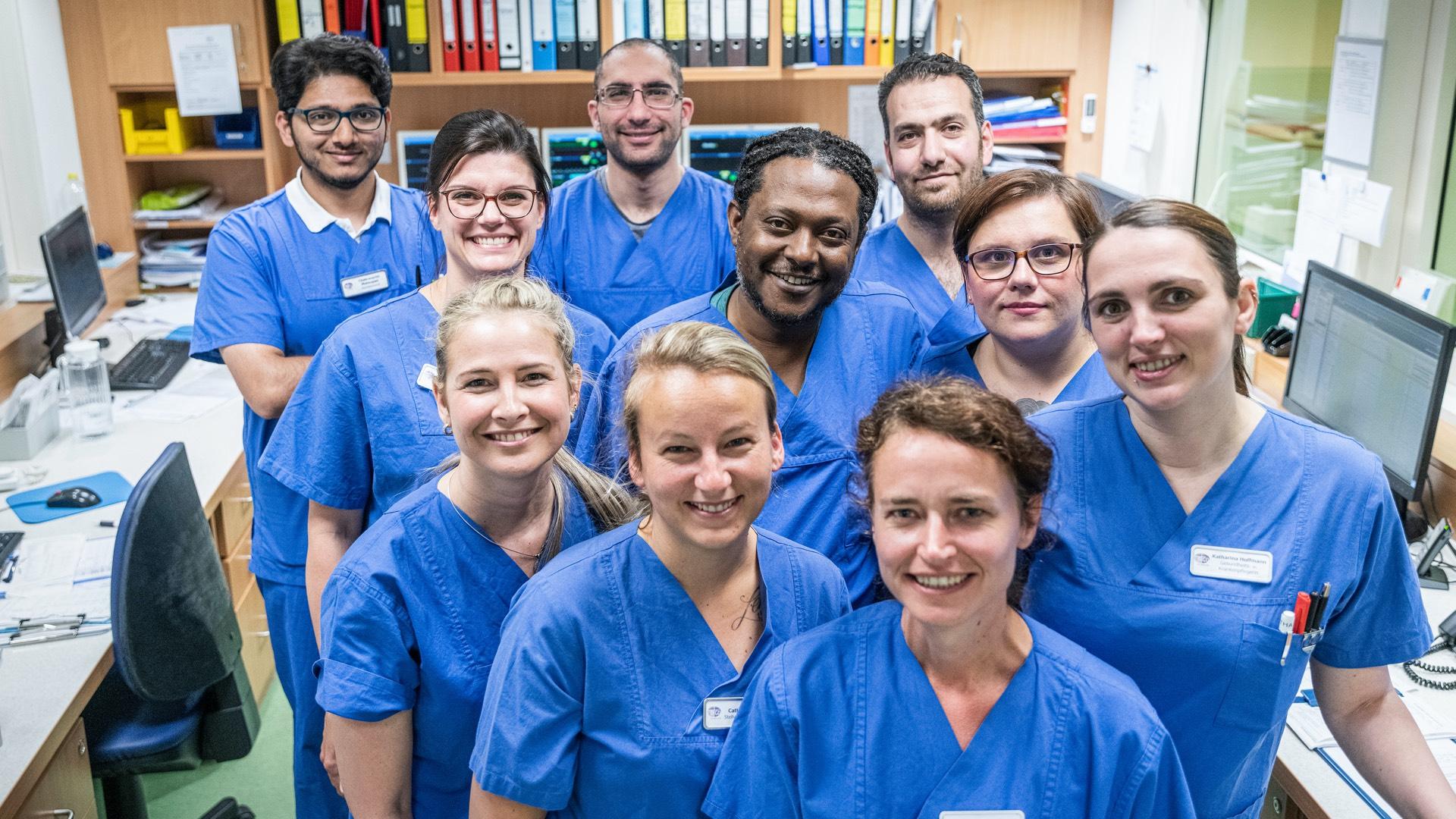 Mitarbeiter der Intensivstation der Lungenklinik Neustadt