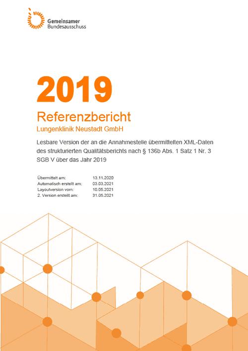 Lungenklinik Neustadt Qualitätsbericht 2019